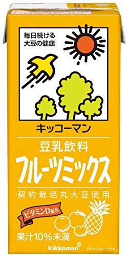 紀文 豆乳飲料 フルーツミックス1000ml紙パック×12(6×2)本入