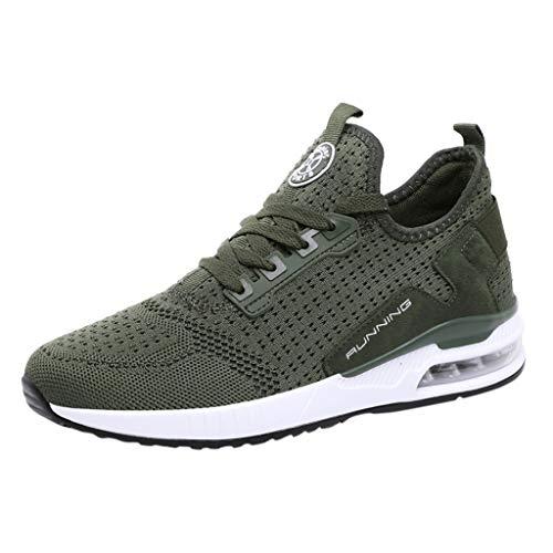 riou Zapatillas Hombres Mujeres Deporte Running Sneakers Malla Ligeras Transpirables Zapatos Casuales Zapatillas para Correr Gimnasio Deportivas Sneakers 36-45