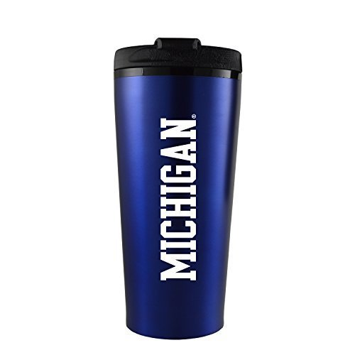 16 oz Insulated Tumbler with Lid - Michigan Wolverines