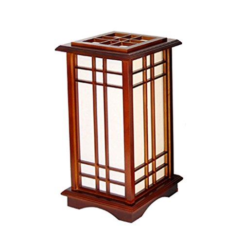 TMY Moderne Simple Chambre Chevet Table Lamp Lampadaire Standard Lampe Bois Économie D'énergie Lampe Décoration de La Maison Lampe E27 (Taille : S-25 * 25 * 45CM)