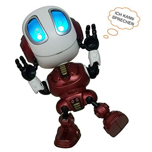 feelfrei Reden Roboter Spielzeug, Sprechender Roboter mit Aufnahmen-Wiedergabefunktion und LED Licht, Sprachlernspieleund Geschenk für Baby Kinder Jungen Mädchen