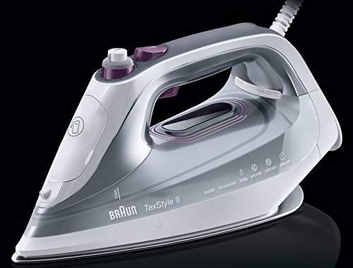 Braun SI 9187 E WH - Plancha a Vapor, Suela de Eloxal, 2.5 m, 230 g/min, Blanco, 50 g/min