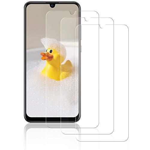 NASFUEY [3 Piezas Cristal Templado para Huawei P Smart 2019, [9H Dureza] [Antihuellas Dactilares] [Sin Burbujas], Alta Sensibilidad y Definición,Protector de Pantalla para Huawei P Smart 2019