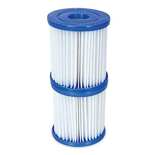 lzndeal Cartouche de Filtration pour Piscine pour piscines et Lay-z-spas 2 Cartouches 2Pcs 10inch Filter Cartridges Accessoires Pièces pour 300/330 Gal/h Pompes de Filtre de Piscine