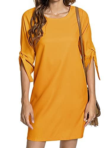 abito donna giallo Tuopuda Abiti Donna Elegante