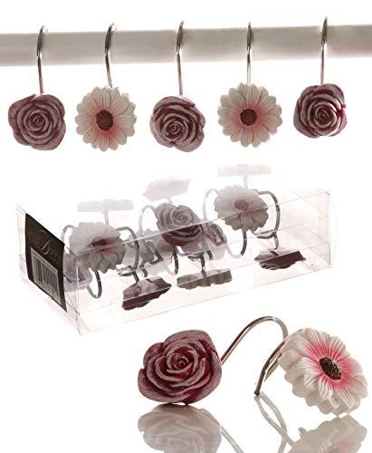 Floral Bathroom Shower Curtain Hook