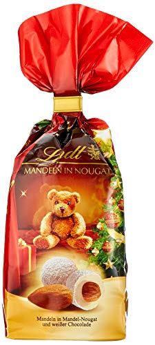 Lindt Weihnachts-Tradition Gebrannte Mandeln in Nougat, 7er Pack (7 x 100 g)