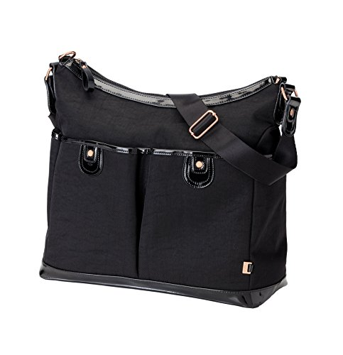 OiOi 2 Pocket Hobo Diaper Bag - Black Ballistic