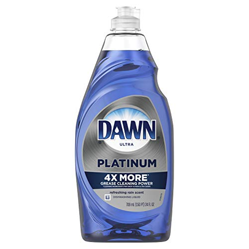 Dawn Platinum Dishwashing Liquid Dish Soap, Refreshing Rain, 24 fl oz