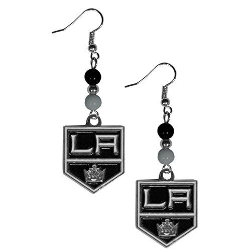 NHL Los Angeles Kings Fan Bead Dangle Earrings