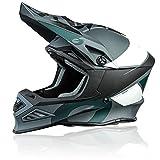 O'NEAL | Casco Motocross | MX Enduro Motorcycle | Compatibile con Airflaps™, Fodera imbottita Coolmax, Chiusura di sicurezza a doppia D | F-SRS Helmet Glitch | Adulto | Nero Grigio | Taglia L