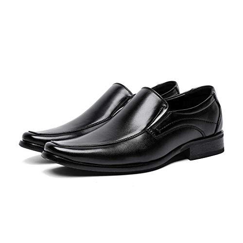 ECOSWAY Hombre Casual Zapatos de Cuero, Oxford Punta Cuadrada Completo Zapatos Vestido,...