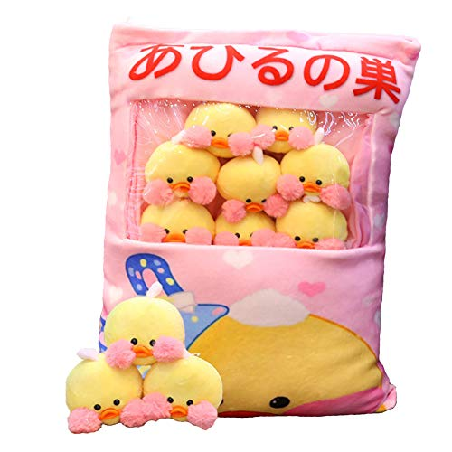REFAHB Plush Pillow Cute Little Yellow Duck Animals Doll Toy Gifts for Teens Girls Kids,Sofa Chair Decorative Pillow