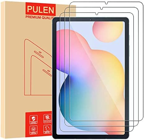 3 Pack PULEN for Samsung Galaxy Tab S6 Lite Screen Protector SM P610 P615 HD No Bubble 9H Hardness product image