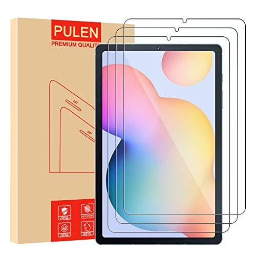 PULEN para Samsung Galaxy Tab S6 Lite Cristal Templado Protector de Pantalla, 9H Dureza [2.5D , 0.3mm] [Anti Arañazos] [Alta Definicion] [Sin Burbujas] Screen Protector [3 Pack]