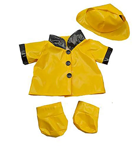 """Rain Slicker w/Hat & Boots Teddy Bear Clothes Fits Most 14""""-18"""" Build-A-Bear & Make Your Own Stuffed Animals"""