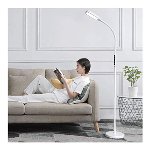 JIN Lámpara de Pie Led Sala de Estar Dormitorio Estudio Estudio Trabajo Sala de Negocios Control Táctil 360 ° Lámpara de Mesa con Cuello Universal con Función de Funciones de Tiempo