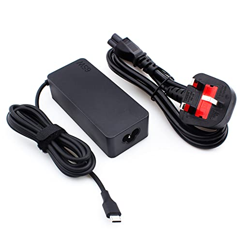 65w USB-C AC Charger for Lenovo Chromebook c330 s330 c340 s340 100e 300e 500e Series, ThinkPad T480 T480s T580 T580s E480 E580 A275 A475 A285 A485 Type-C Laptop USB Type C Power Supply Adapter Cord