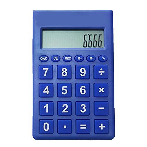 dljztrade Mini-rekenmachine, 12 cijfers, mooi gereedschap, draagbaar, licht, studenten, cadeau voor kantoor, school marineblauw