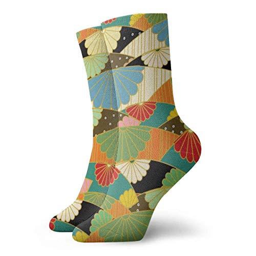Love girl Calcetines unisex para hombre Origami Patrón japonés Moda Novedad Calcetines deportivos secos Medias 30cm