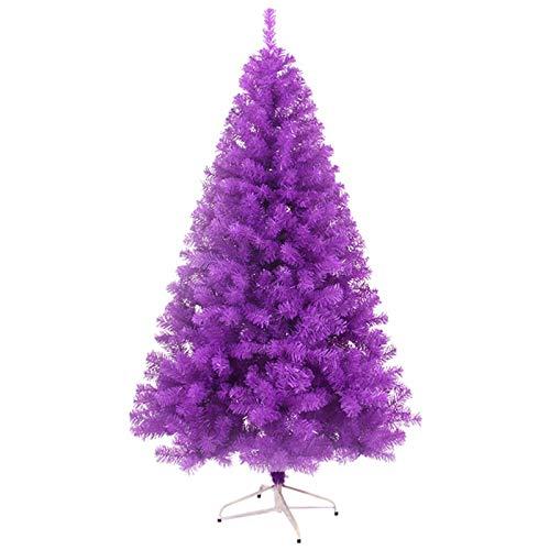 GXBCS Alberi di Natale Artificiali Facile Treezy Albero di Natale, con I Nastri delle Decorazioni Libere Viola-120/150/180/210/240 Centimetri iEvery 0731 (Colore : Purple, Taglia : 210cm)