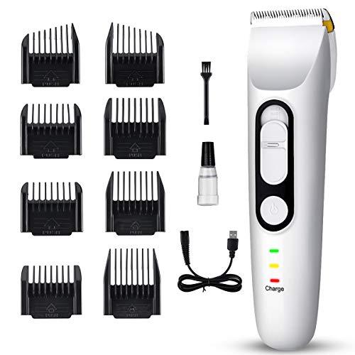 Haarschneidemaschine Elektrischer Profi , Haarschneidemaschine Herren, Haarschneidemaschine Bartschneider Haartrimmer Präzisionstrimmer Langhaarschneider Männer Wasserdichter USB Wiederaufladbar