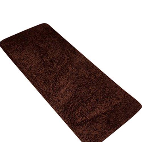 CHENGYANG Tappeto Shaggy Pelo Lungo Resistente Uni passatoia Antiscivolo Tappeto tappeti da Cucina Tappetino da Bagno Marrone 80cm x 160cm