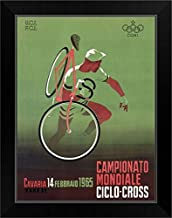 CANVAS ON DEMAND 1965 Italian Bicycle Ciclo-Cross Vintage Advertising Poster Black Framed Art Print, 15