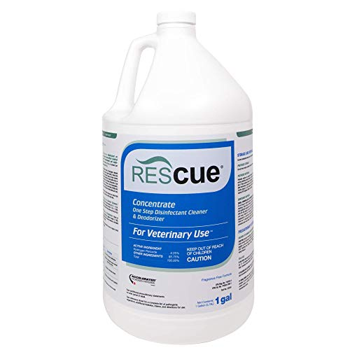 REScue One-Step Disinfectant Cleaner & Deodorizer for Veterinary Use, EPA registered Accelerated Hydrogen Peroxide, Concentrate, 1-Gallon