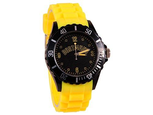 Alsino Armbanduhr WM EM Länder Silikon Uhren für Damen und Herren Silikonuhr, UR-258 Dortmund