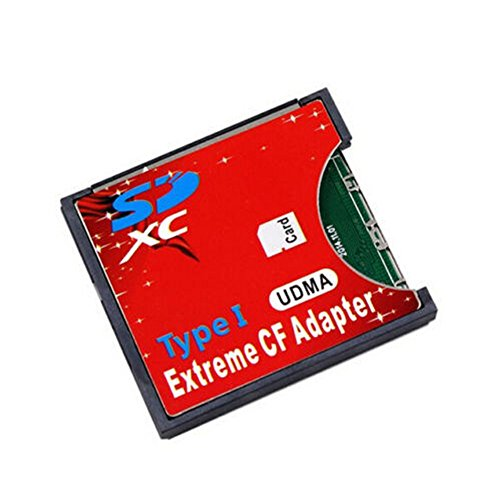 Extreme Wireless WiFi SDHC SDXC Card Slot to CF Type I Compact Flash Memory Card Adapter for SLR Camera Card