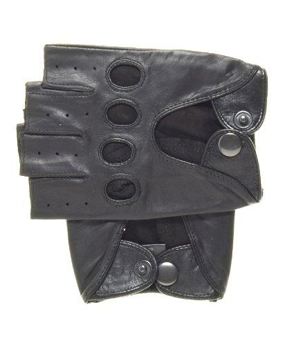 Pratt and Hart Men's Shorty Leather Driving Gloves (Fingerless) Size M Color...