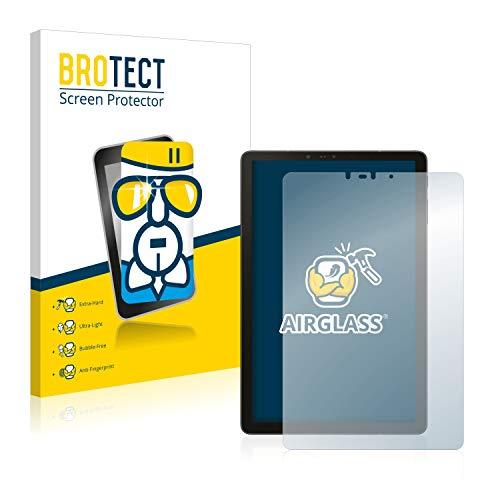 BROTECT Panzerglas Schutzfolie kompatibel mit Samsung Galaxy Tab S4 10.5 - AirGlass, extrem Kratzfest, Anti-Fingerprint, Ultra-transparent