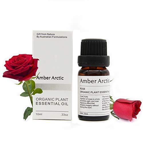 Aceite esencial de rosa - 100% puro mejor aceite esencial de grado terapéutico, aceite de...