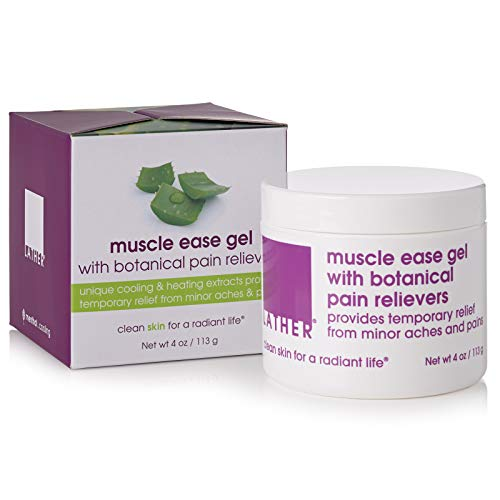 Best lather muscle ease pain relief gel with botanical pain relievers 4 oz for 2020