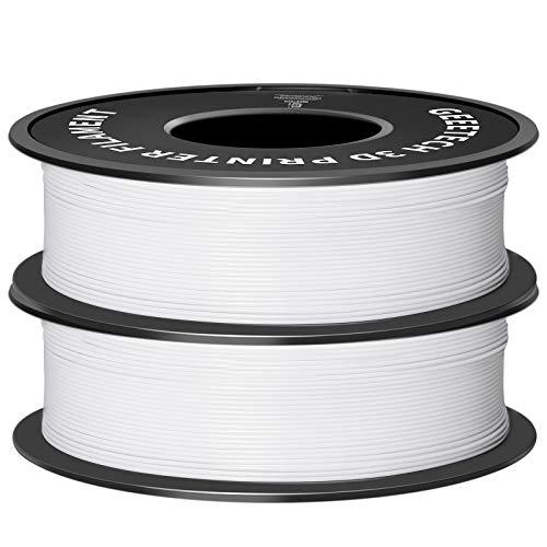GEEETECH 3D Filament PLA 1,75mm per stampante 3D Bianco 2Pezzi Nuovo Bianco