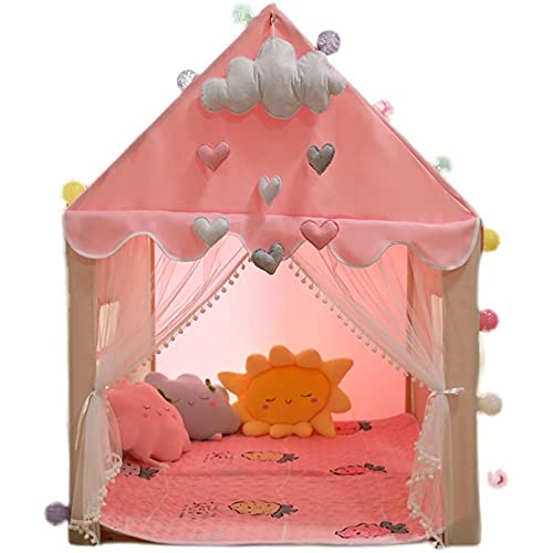 Rosa Tiendas Campaña Infantiles con Luces LED de Estrella,Tipis Infantiles Carpa Infantil Niñapara Bebés en Interiores y Exteriores,100x130x136cm