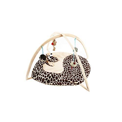 1 pc Creative Cat Teaser Tente Multi Utilisation Pet Tente Jouer Lit Douce Interactive Hanging Tente Mat Chats Jouets interactifs Accessoires pour Chats (Girafe)