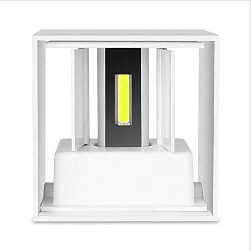Moderne eenvoudige kubus verstelbare muur LED-wandlamp buiten waterdichte aluminium wandlamp tuinlamp wandlamp wit 9W_Non_dimbaar 3000K