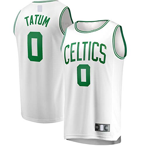 OYFFL Jayson Custom Tatum Sudadera Boston Basketball Jersey Celtics Sportswear #0 Fast Break Player Jersey Blanco - Edición Asociación-L