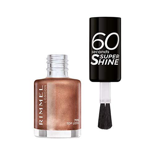Rimmel - Vernis à Ongles 60 Seconds Super Shine Colour Block - Ultra Brillance et Longue Tenue - Séchage rapide - 709 Top Less - 8ml