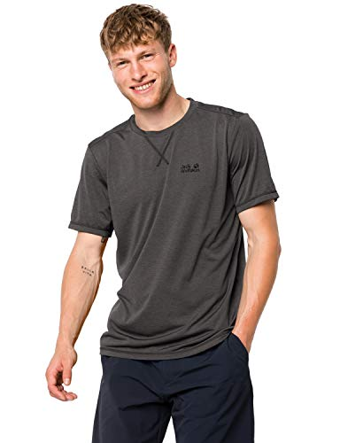 Jack Wolfskin Herren Shirt Crosstrail T, dark steel, XL