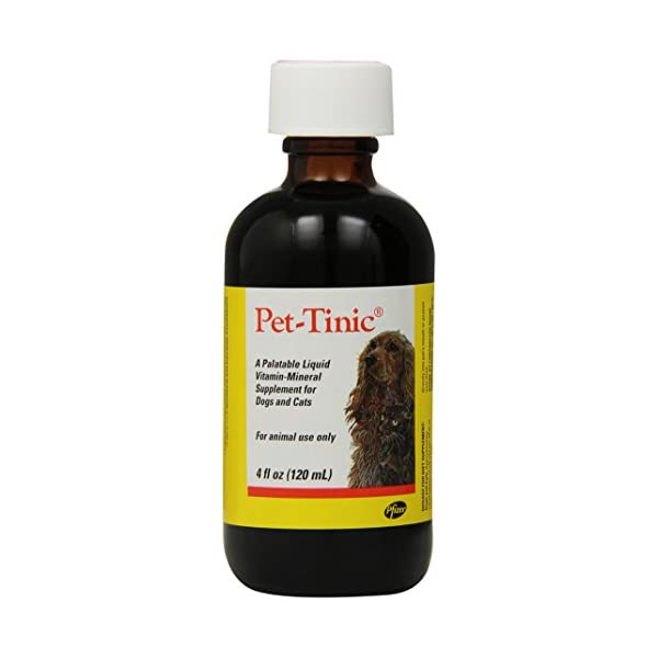 Pfizer Animal Pet-Tinic Vitamin-Mineral Supplement for Dogs and Cats, 4-Ounce