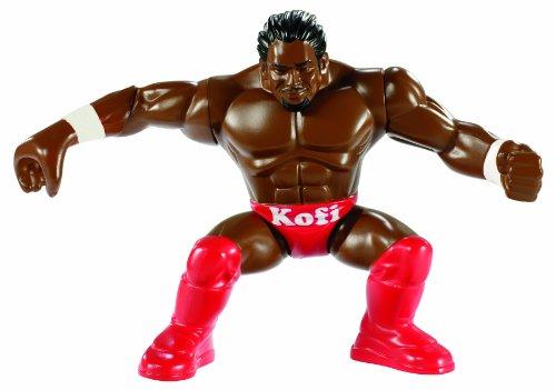 WWE – Power Slammers – Kofi Kingston – Figurine Action Motorisée 12 cm