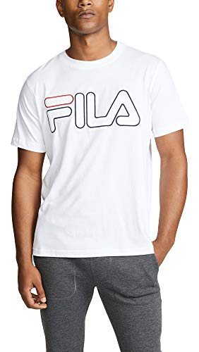 Fila Men's Borough Tee, White/Black/Red, Small