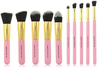 Kabuki Stylish Fashion Makeup Brushes 10pcs - Pink