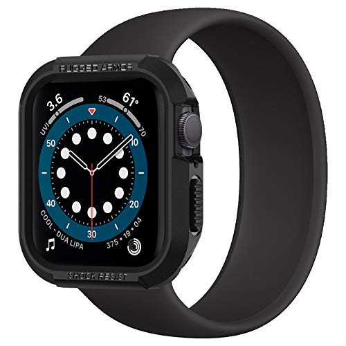 Spigen Rugged Armor Compatibile con Apple Watch Custodia per 40mm Series 6/SE/5/4 - Nero