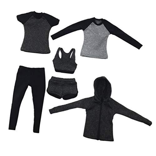 1/6 Hardloopkleding-outfit voor Vrouwelijk Actiefiguur van 30 Cm