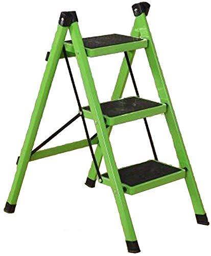 Huishoudelijke inklapbare stap kruk, dikker ijzeren buisdrie niveaus Pedaal Indoor Ladders Kleine Ladder