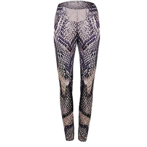 Discount Boutique Women's High Waist Tights Fashion Snakeskin Print Sexy...
